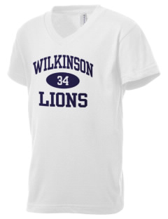 Wilkinson School Lions Kid's V-Neck Jersey T-Shirt