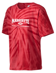 Marquette High School Mohawks Kid's Tie-Dye T-Shirt