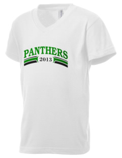 Saint Patrick's School Panthers Kid's V-Neck Jersey T-Shirt