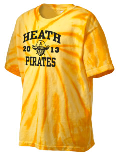 Heath Elementary School Pirates Kid's Tie-Dye T-Shirt
