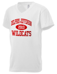 Delphos Jefferson Middle School Wildcats Kid's V-Neck Jersey T-Shirt