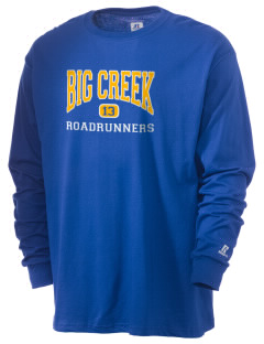 Big Creek Elementary School Roadrunners  Russell Men's Long Sleeve T-Shirt