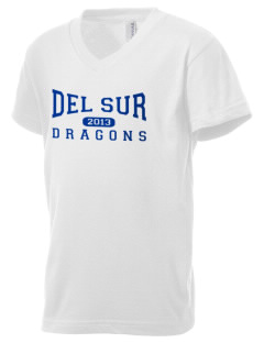 Del Sur School Dragons Kid's V-Neck Jersey T-Shirt