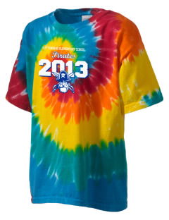 Guttenberg Elementary School Pirates Kid's Tie-Dye T-Shirt