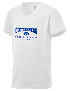 Guttenberg Elementary School Pirates Kid's V-Neck Jersey T-Shirt