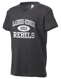 Gladbrook-Reinbeck School Rebels Kid's V-Neck Jersey T-Shirt