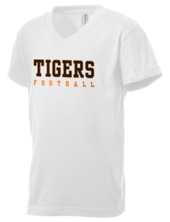 Tom Elementary School Tigers Kid's V-Neck Jersey T-Shirt