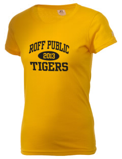 Roff Public School Tigers  Russell Women's Campus T-Shirt