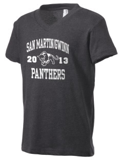 San MartinGwinn School Panthers Kid's V-Neck Jersey T-Shirt