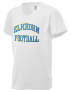 Elkhorn School Ocelots Kid's V-Neck Jersey T-Shirt