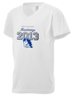 King City High School Mustangs Kid's V-Neck Jersey T-Shirt