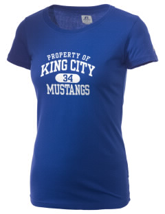 King City High School Mustangs  Russell Women's Campus T-Shirt