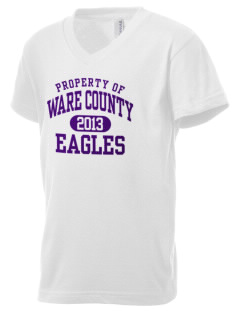 Ware County Magnet School Eagles Kid's V-Neck Jersey T-Shirt