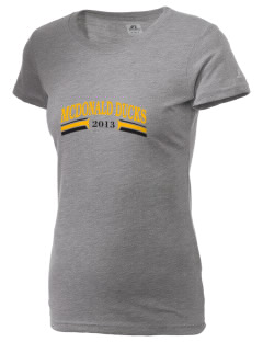 A B McDonald Elementary School McDonald Ducks  Russell Women's Campus T-Shirt