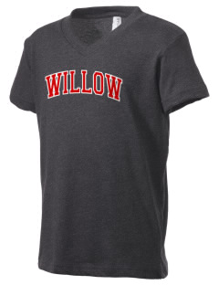 Willow Elementary School Roadrunners Kid's V-Neck Jersey T-Shirt