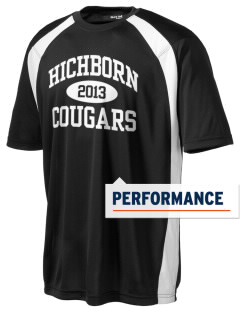 Hichborn Middle School Cougars Men's Dry Zone Colorblock T-Shirt