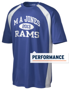 M A Jones Elementary School Rams Men's Dry Zone Colorblock T-Shirt