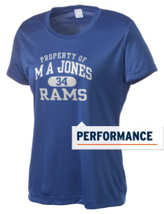 M A Jones Elementary School Rams Women's Competitor Performance T-Shirt