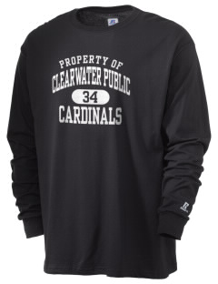Clearwater Public Schools Cardinals  Russell Men's Long Sleeve T-Shirt