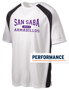 San Saba Intermediate School Armadillos Men's Dry Zone Colorblock T-Shirt