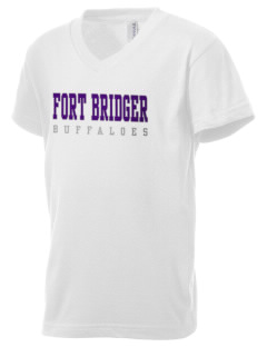 Fort Bridger Elementary School Buffaloes Kid's V-Neck Jersey T-Shirt