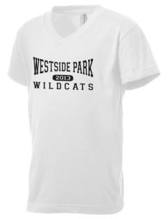 Westside Park Elementary School Wildcats Kid's V-Neck Jersey T-Shirt
