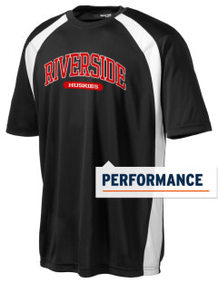Riverside Elementary School Huskies Men's Dry Zone Colorblock T-Shirt
