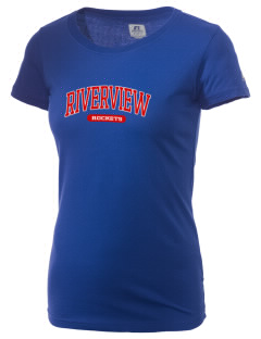 Riverview Elementary School Rockets  Russell Women's Campus T-Shirt