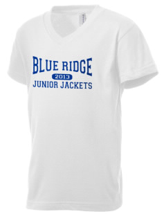 Blue Ridge Middle School Junior Jackets Kid's V-Neck Jersey T-Shirt