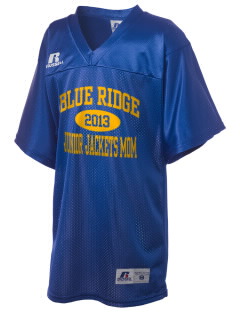 Blue Ridge Middle School Junior Jackets Russell Kid's Replica Football Jersey
