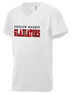 Goodlow Elementary Magnet School Gladiators Kid's V-Neck Jersey T-Shirt