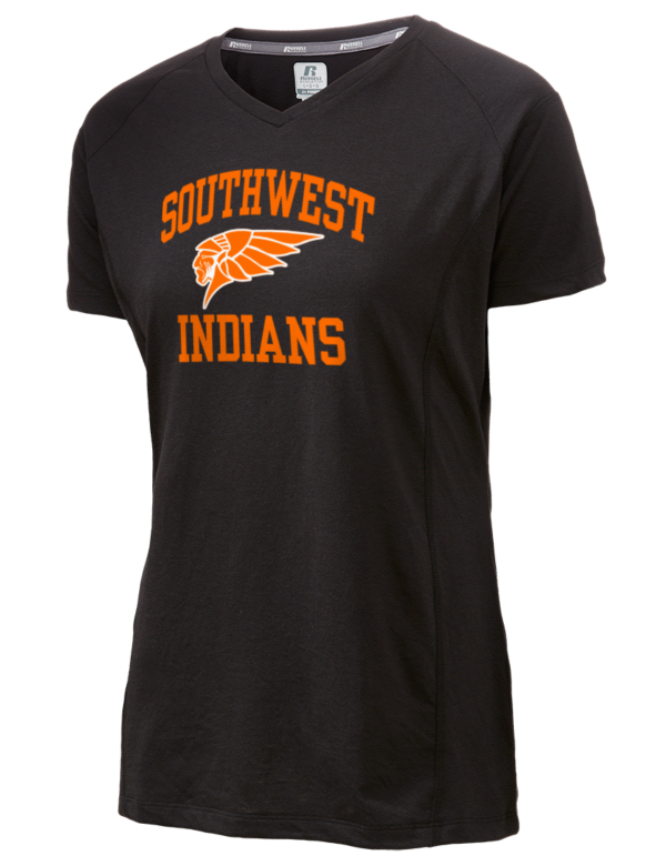 Southwest high school indians russell athletic women 39 s for T shirts with city names