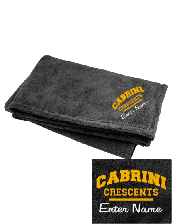 cabrini high school crescents embroidered augusta sportswear fleece blanket prep sportswear. Black Bedroom Furniture Sets. Home Design Ideas