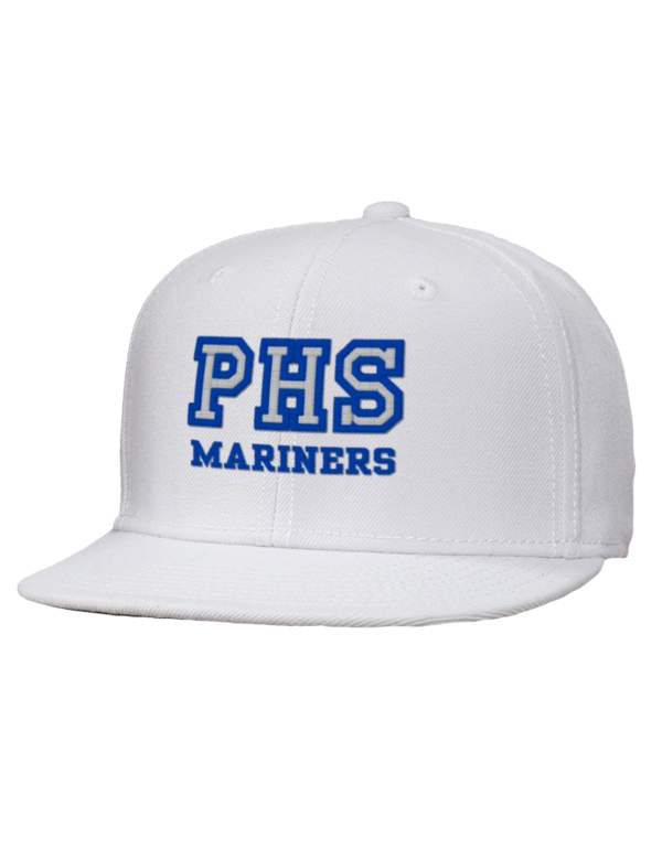 Pacifica High School Mariners Embroidered Wool Blend Flat Bill Pro Style Snapback Cap Prep