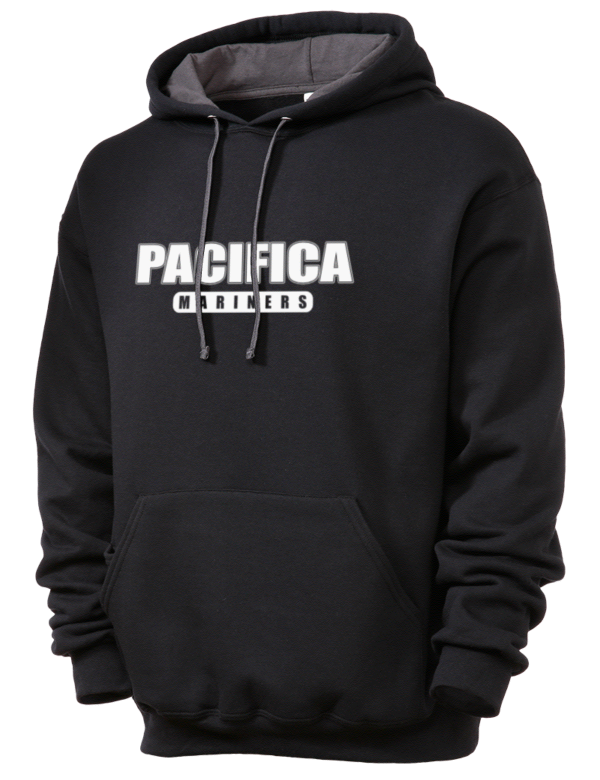Pacifica High School Mariners Sofspun Unisex Hooded Sweatshirt Prep Sportswear