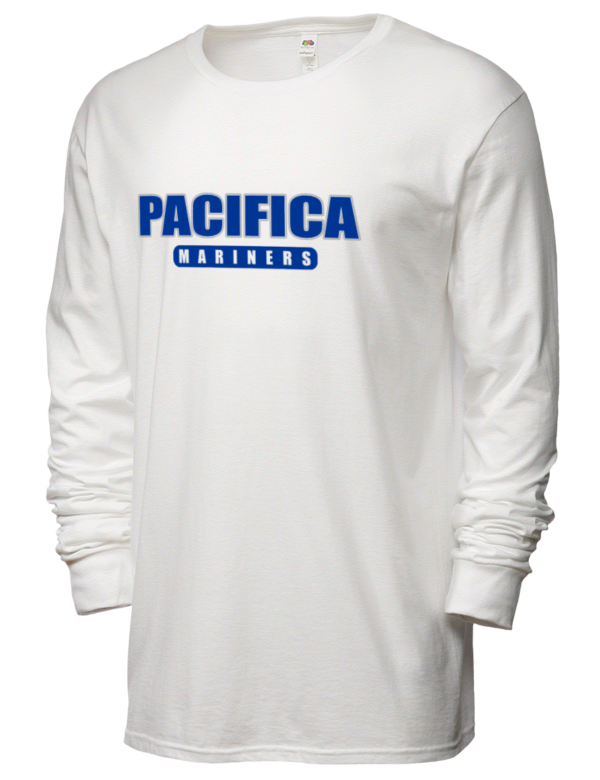 Pacifica High School Mariners Sofspun Men 39 S Cotton Long Sleeve T Shirt Prep Sportswear