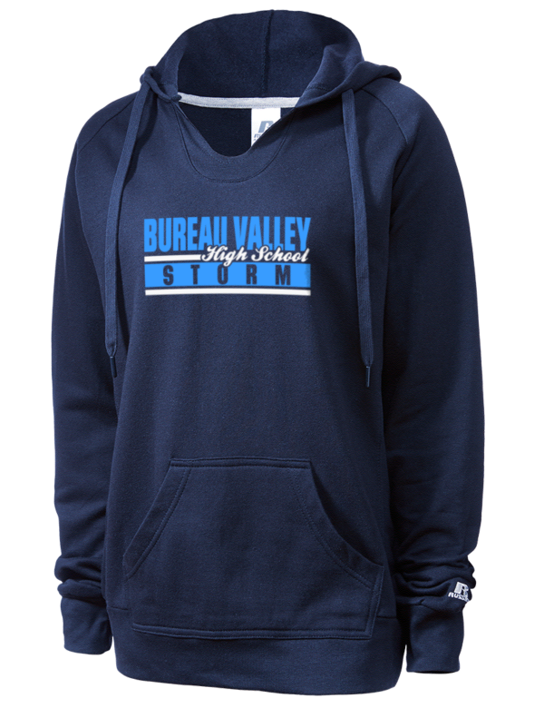 bureau valley high school storm russell athletic women 39 s hooded sweatshirt prep sportswear. Black Bedroom Furniture Sets. Home Design Ideas