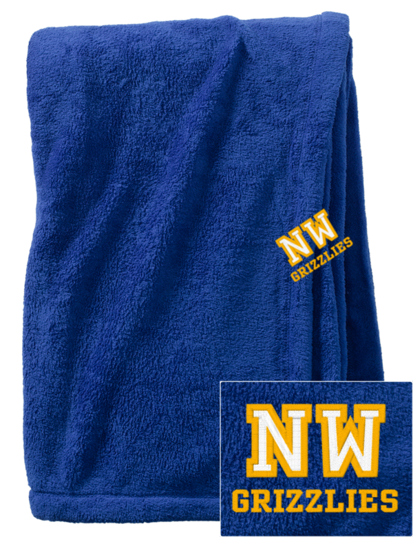 wichita northwest high school grizzlies embroidered. Black Bedroom Furniture Sets. Home Design Ideas