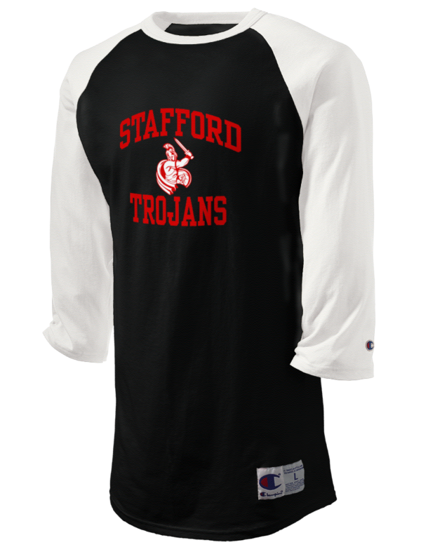 Stafford high school trojans champion men 39 s tagless for Stafford t shirts big and tall