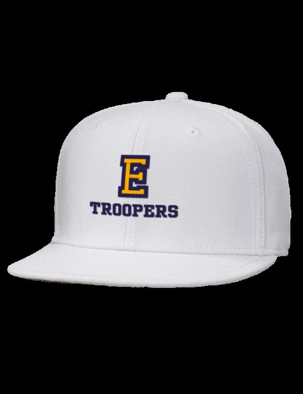 eastwood high school troopers embroidered wool blend flat bill pro style snapback cap prep. Black Bedroom Furniture Sets. Home Design Ideas