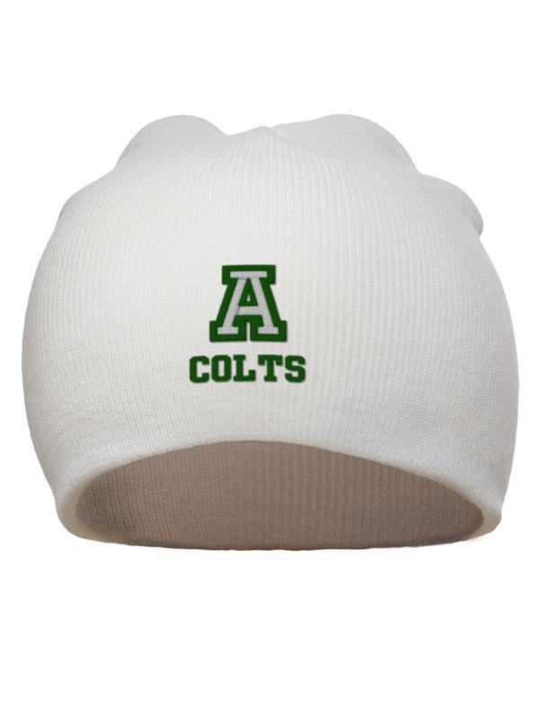 Arlington high school colts embroidered acrylic beanie