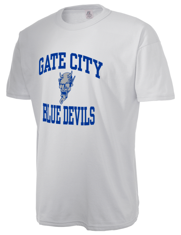 Gate city high school blue devils russell athletic men 39 s 5 for T shirts with city names
