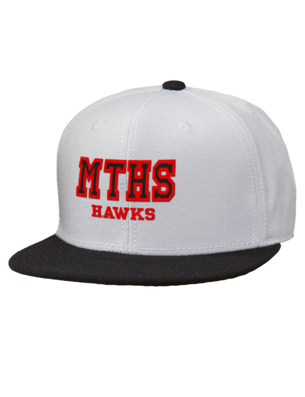 Mountlake terrace high school hawks embroidered wool blend for 43591 white cap terrace
