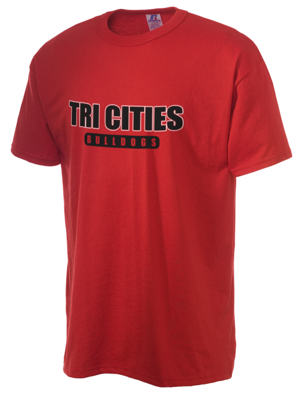 Tri cities high school bulldogs russell athletic men 39 s 5 for T shirts with city names