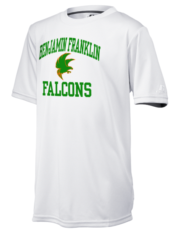 benjamin franklin high school falcons russell athletic youth core performance t shirt prep. Black Bedroom Furniture Sets. Home Design Ideas