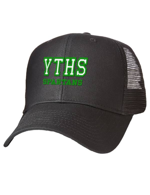 York tech high school spartans embroidered cotton twill