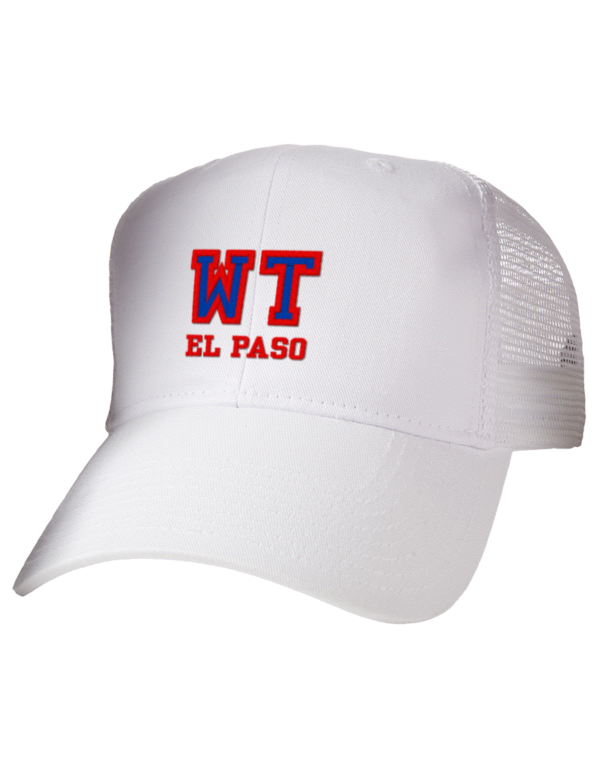 western technical institute el paso embroidered cotton twill trucker style mesh back cap prep. Black Bedroom Furniture Sets. Home Design Ideas