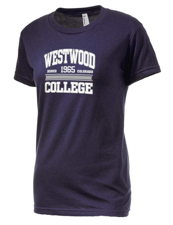 Westwood college american apparel junior 39 s fine jersey for American apparel men s fine jersey short sleeve tall t shirt