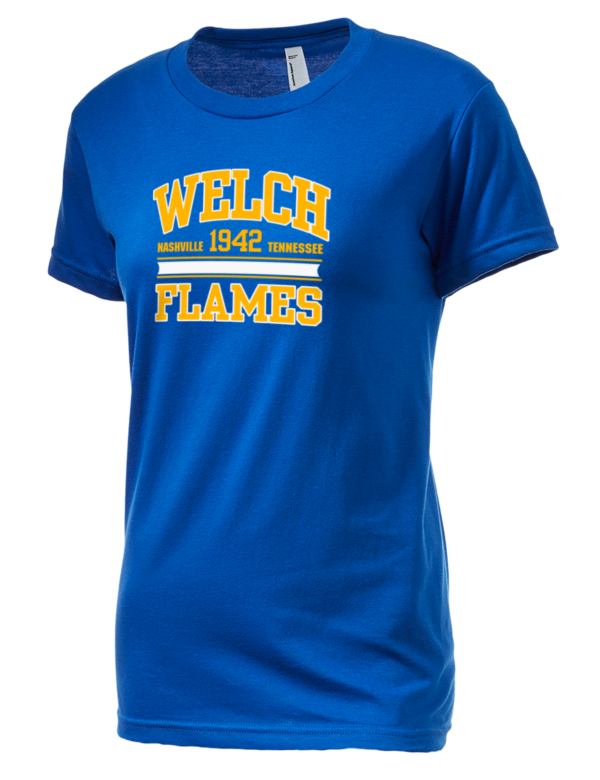 Welch College Flames American Apparel Junior 39 S Fine Jersey