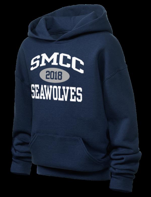 southern maine community college seawolves jerzees youth hooded sweatshirt prep sportswear. Black Bedroom Furniture Sets. Home Design Ideas
